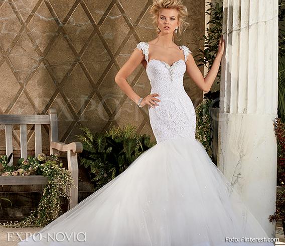 Vestidos de novia corte sirena sin encaje