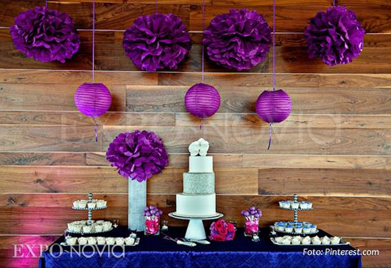 Estilos en decoraci n para tu mesa de postres exponovia - Decoracion de mesa de dulces ...