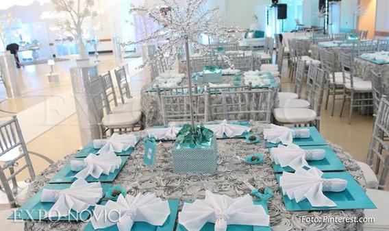 42 Pasteles De Boda Originales Para Tu Día Especial Fotos: Inspiración Azul Tiffany Para Boda
