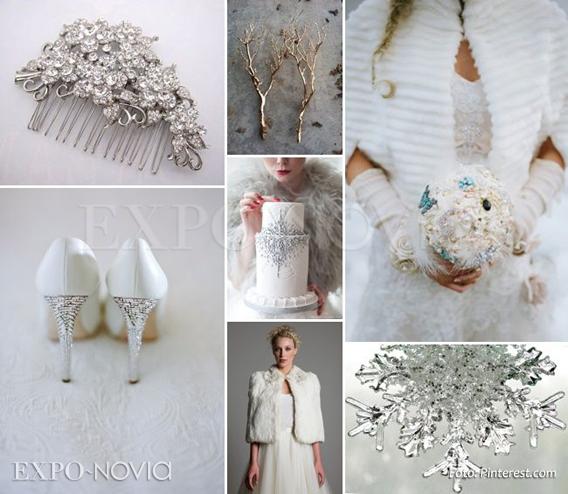 Matrimonio Tema Invernal : Decoración para boda invernal exponovia