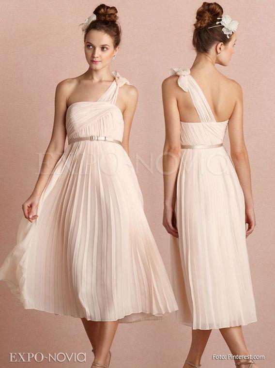 Vestidos de novia civil con color