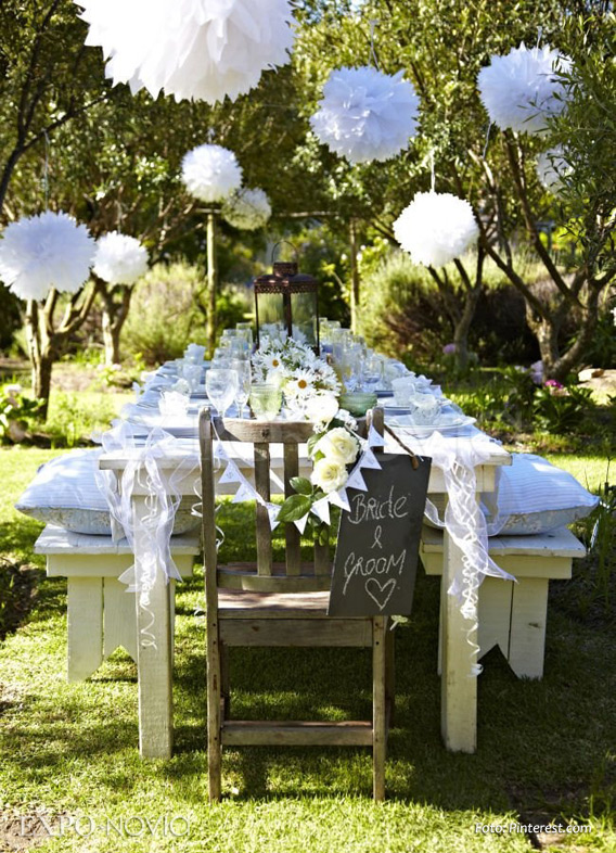 Ideas de decoraci n para boda en jard n exponovia for Decoracion de jardin pequeno sencillo